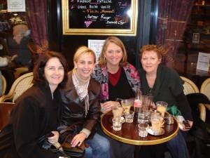 Priscilla, Christine, Elizabeth, Lisa at Café de Flore 2008