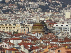 View of the city of Nice from the top of old Nice's La Colline du Chateau