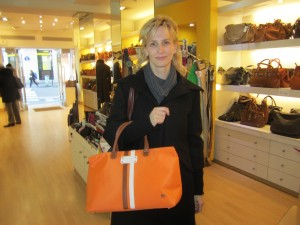 Gal Pal Christine picking up a new collection fun summer handbag