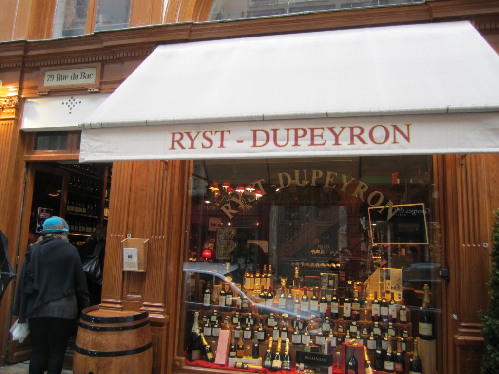 Ryst-Dupeyron wines and spirits in Paris