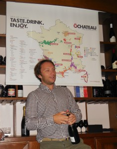 Olivier explaining the different regions where wine is grown in France