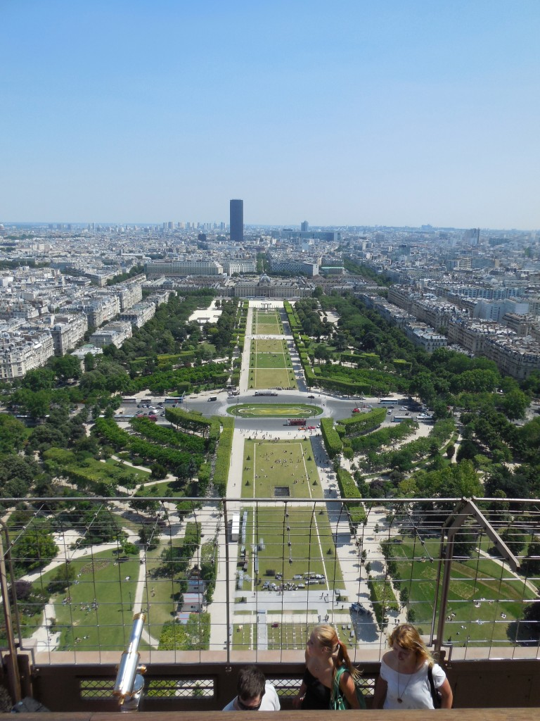 View of the mall below just before Bastille Day preparations