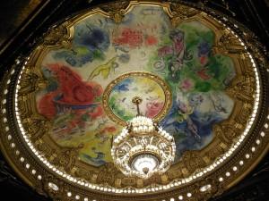 The ceiling of the Palais Garnier