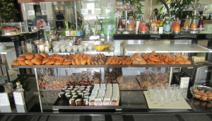 The buffet at the Fairmont Hotel, Monte Carlo is to die for! American favorites with a French flair!