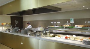 The cooked to order area of the Hotel Palais de la Méditerranée in Nice, eggs any way you like!