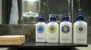l'Occitane goodies at Hotel Montalembert, Paris