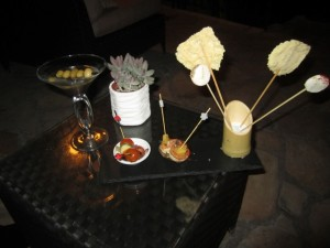 Chateau Eza bar snacks