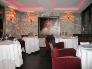 Chateau Eze dining room