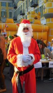 Skinny, but happy Santa