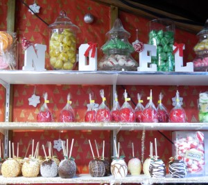 Gorgeous candied apples