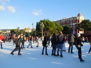 Ice skating rink in the heart of Nice
