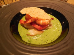 Shrimp delight at L'Epi Dupin