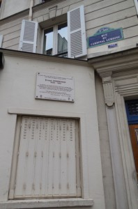 Ernest Hemingway's first home in Paris