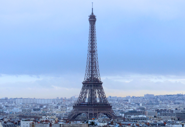 Shot taken from the top of the Arc de Triomphe