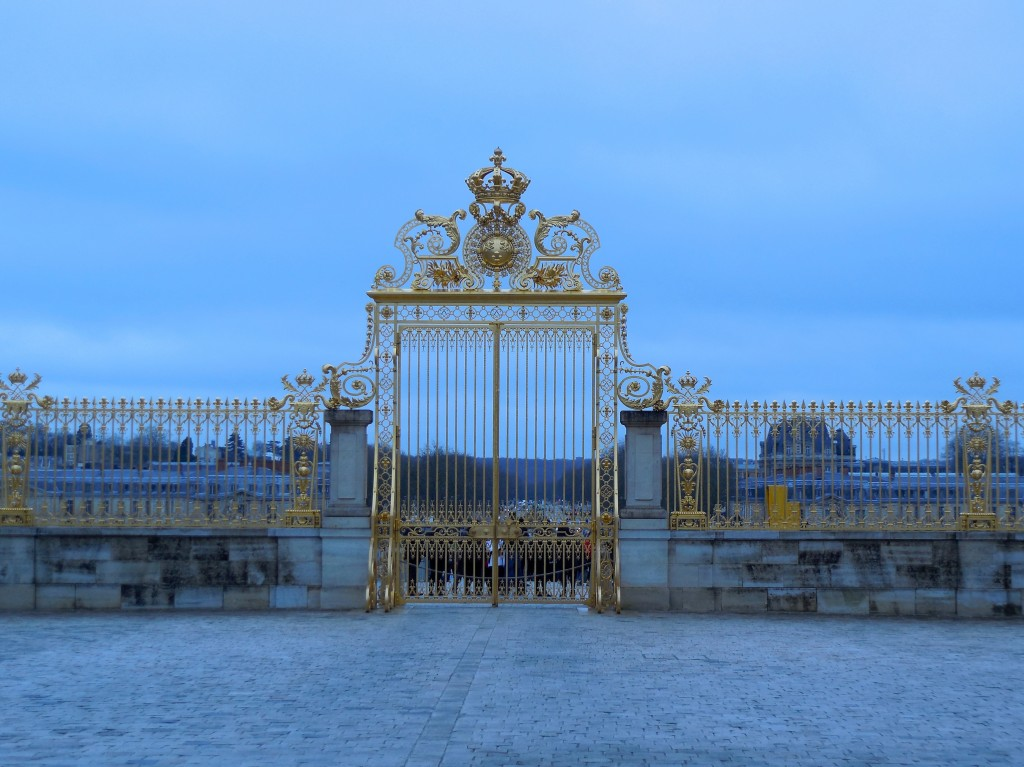 close up of versailles gate