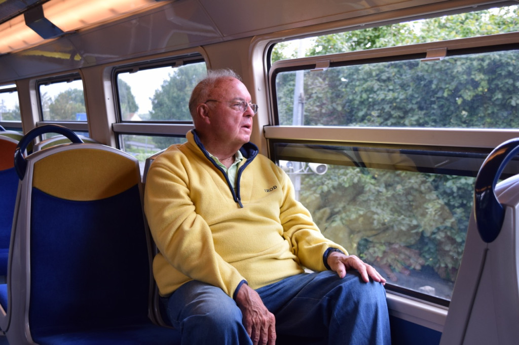 Enjoying the train ride from Jouarre