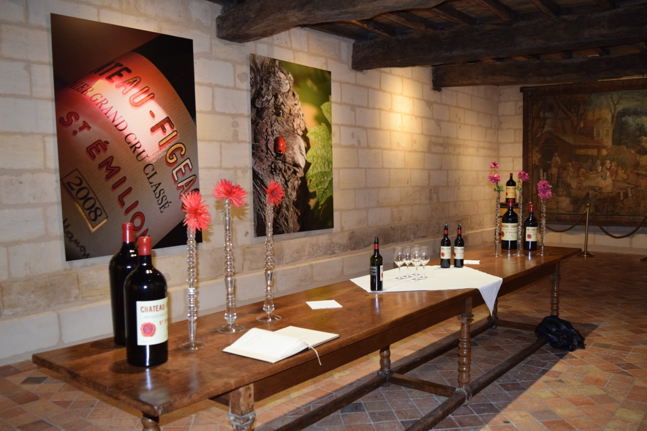 Charming wine tasting room at Figeac
