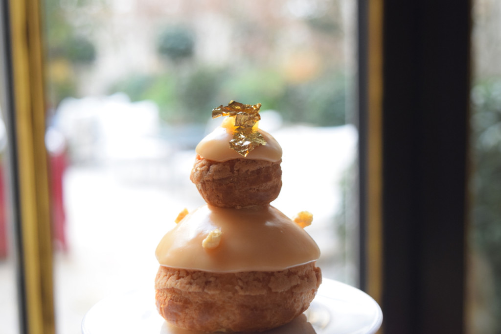 Passion Fruit, Pineapple Religieuse at afternoon tea in Paris