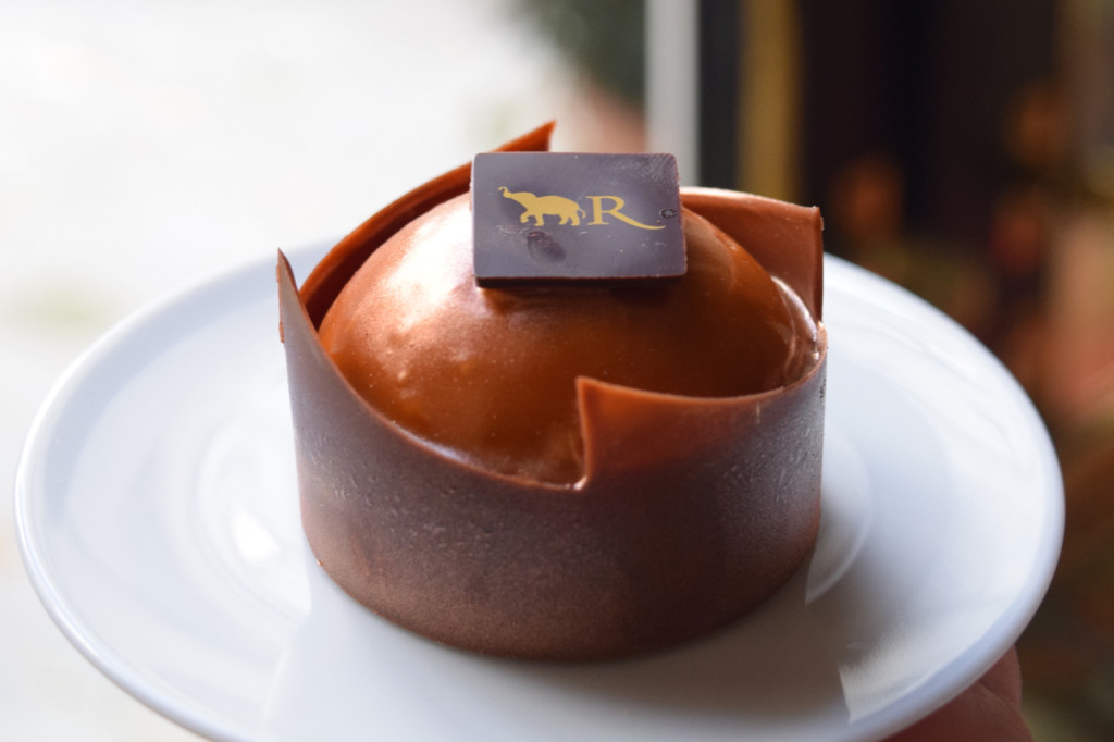 la reserve's caramel dome at afternoon tea